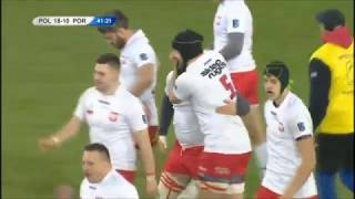 Przemysław Rajewski finishes off try for Poland vs Portugal 2018