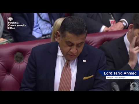 Foreign Office Minister Update On Hong Kong