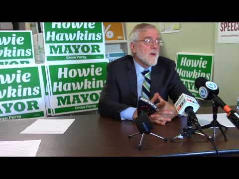 Howie Hawkins Presents Progressive Tax Reforms to Save Syracuse from Bankruptcy