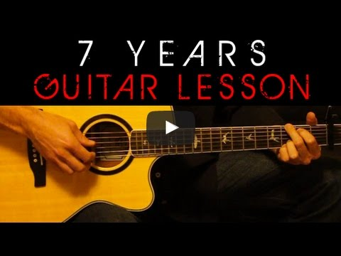Lukas Graham - 7 Years Acoustic Guitar Lesson Cover Tutorial + ...