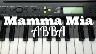 Mamma Mia - ABBA | Easy Keyboard Tutorial With Notes