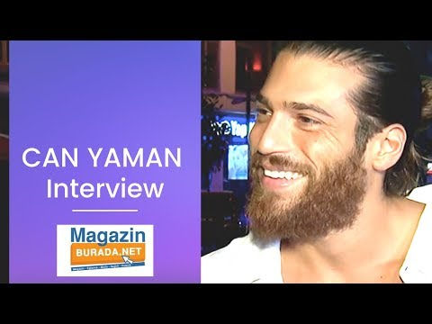 Can Yaman  ❖ Street Interview ❖ Magazin Burada ❖ English ❖  2019