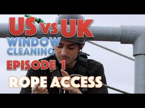 US Vs UK Window Cleaning - episode 1 - Rope Access.
