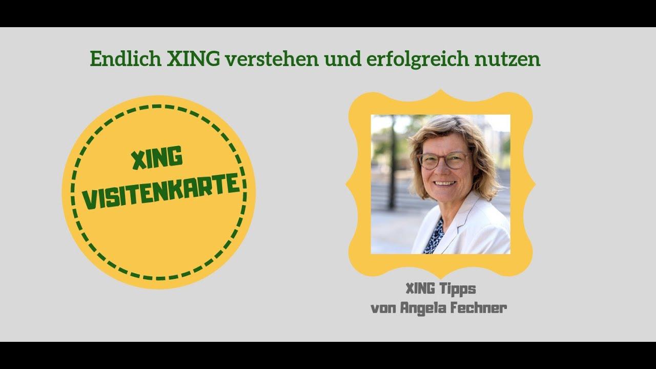 Endlich Xing Verstehen Und Erfolgreich Nutzen Xing Visitenkarte
