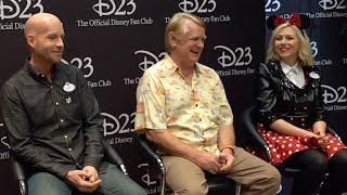 Ashley Eckstein, Bret Iwan, Bill Farmer, Darren Romanelli at D23's Destination D