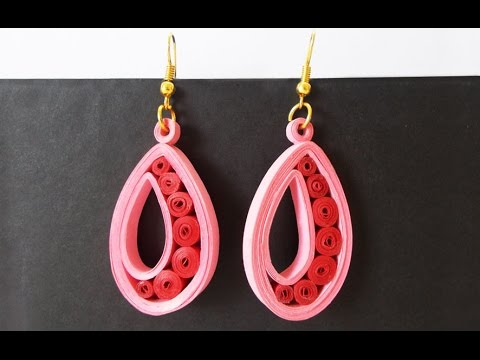 Easy Quilled Earrings Tutorial Paper For S Handmade Jewelery