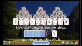 How to play Tri-Peaks Solitaire