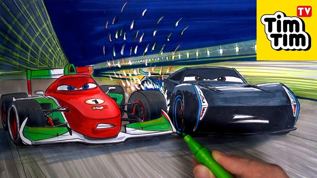 How To Draw Cars 3 Jackson Storm Vs Francesco Bernoulli
