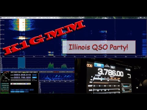 "Ham Radio K1GMM Live Stream w/ the ""Maniac"" Illinois QSO Party!"