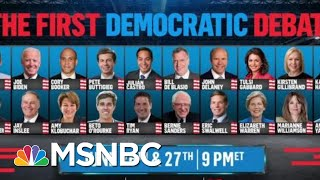 D.N.C. Announces Who Made The First Debates | All In | MSNBC