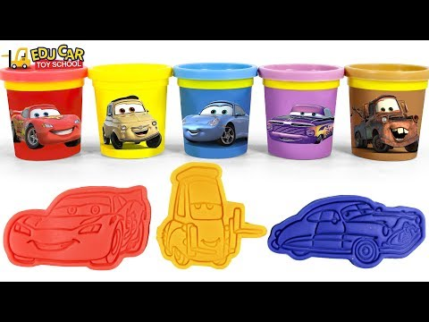 Learning Color Disney Pixar Cars Lightning McQueen play doh Play for kids car toys