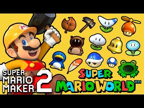 What if Super Mario Maker 2 Had Additional Power-Ups? Mario World Theme SMW Mods