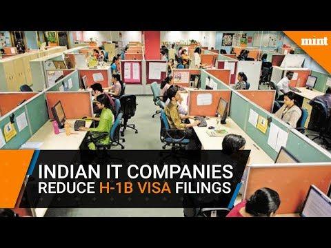 Indian IT companies reduce H-1B visa filings drastically