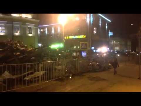 La Moscova s-au distrus noaptea mai multe magazine - Curaj.TV