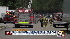 Smoke seen for miles from St. Clair Township fire
