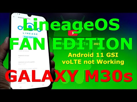 LineageOS FE Android 11 GSI on Samsung Galaxy M30s