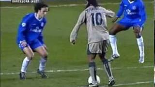 Ronaldinho Goal for Barcelona v Chelsea at Stamford Bridge in 2005