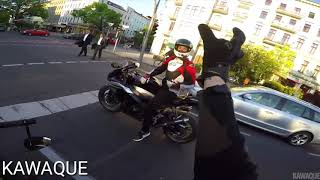 German Motorrad Road Rage compilation best of
