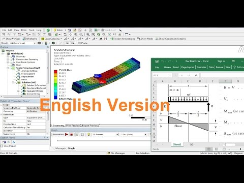 Ansys Static Analysis Tutorials-Elastic Behavior of Simply Supported Beam-English Version