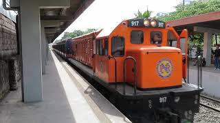 フィリピン国鉄南方線203系 ブルメントリット駅到着 PNR Metro South Commuter Train