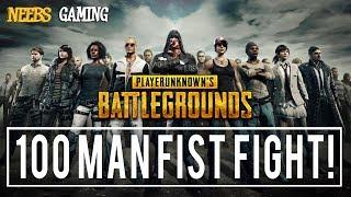 PUBG 100 Man Fist Fight