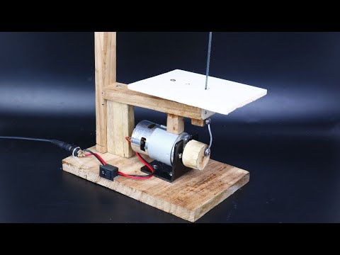 How to Make Simple Scroll Saw Machine