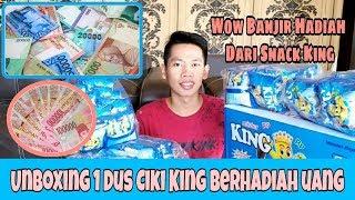 UNBOXING SATU DUS SNACK CIKI KING BERHADIAH UANG !! WOW DAPAT BANYAK UANG