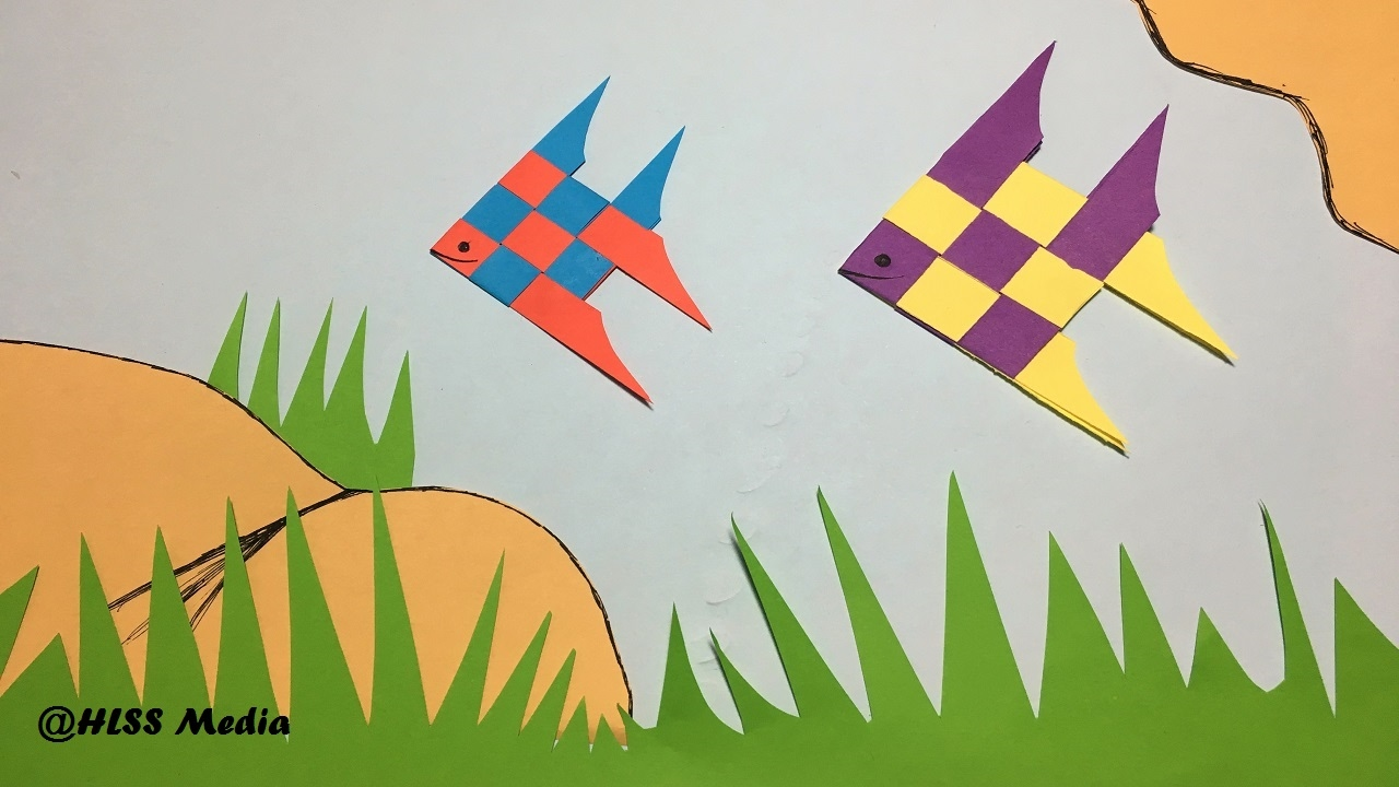 How to make an origami cute fish paper fish paper folding for Craft work with paper folding