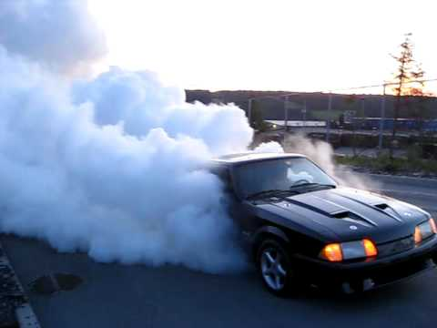 Mustang 5 0 4th Gear Burnout Youtube