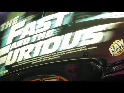 The Fast and the Furious arcade game at Boomers