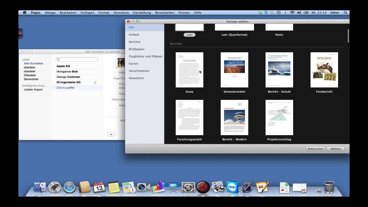 Mit Apples Pages überragend Einfach Visitenkarten Und Serienbriefe Erstellen