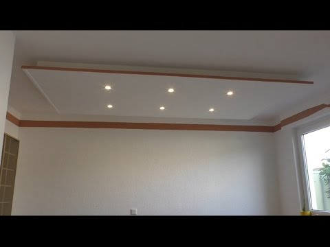 Decke abhängen und LED Strahler und LED Strips light einbauen
