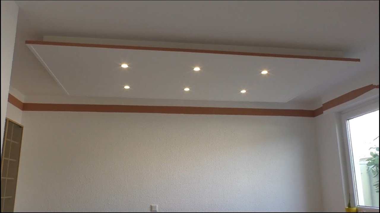 decke abh ngen und led strahler und led strips light einbauen tutorial youtube. Black Bedroom Furniture Sets. Home Design Ideas