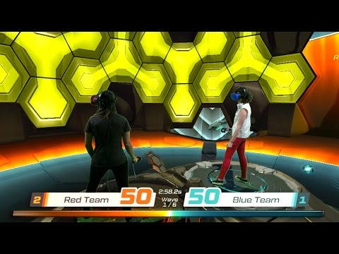 Two-Player Mixed Reality VR Battle - Racket NX