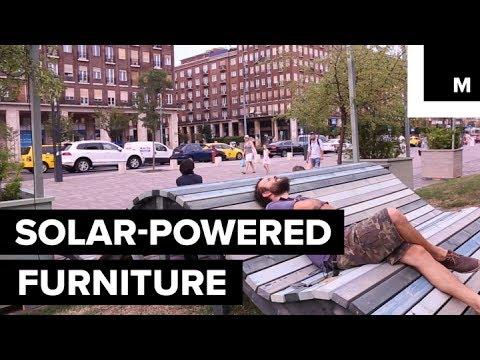 Solar energy benches