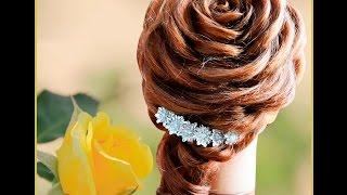 Свадебная прическа на длинные и средние волосы  Роза из волос. Rose hairstyle(Роза из волос. Вечерняя прическа. Капралова Ольга., 2015-07-20T22:42:14.000Z)