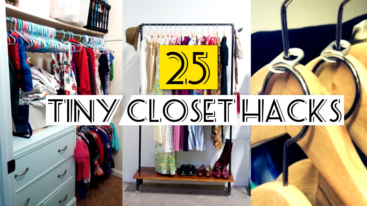 25 organizing small closet ideas youtube. Black Bedroom Furniture Sets. Home Design Ideas
