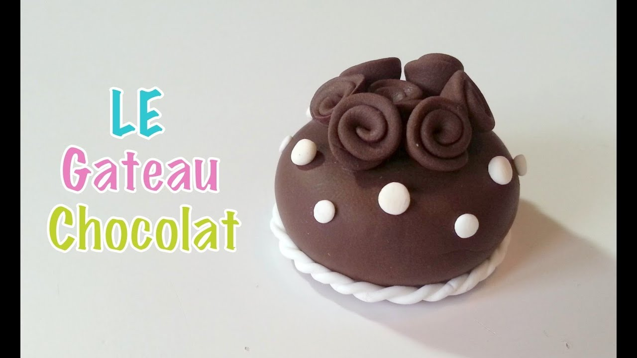 tuto fimo le gateau chocolat youtube. Black Bedroom Furniture Sets. Home Design Ideas