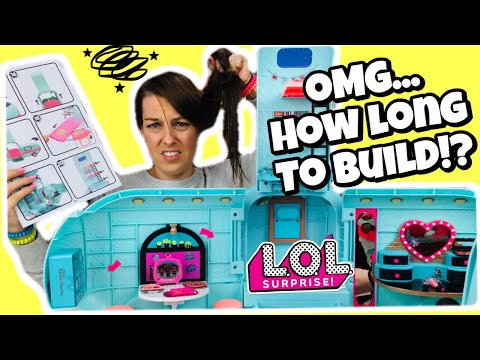 UNBOXING the LOL Surprise GLAMPER! How LONG does it REALLY TAKE TO BUILD!! Is it WORTH IT or NOT?