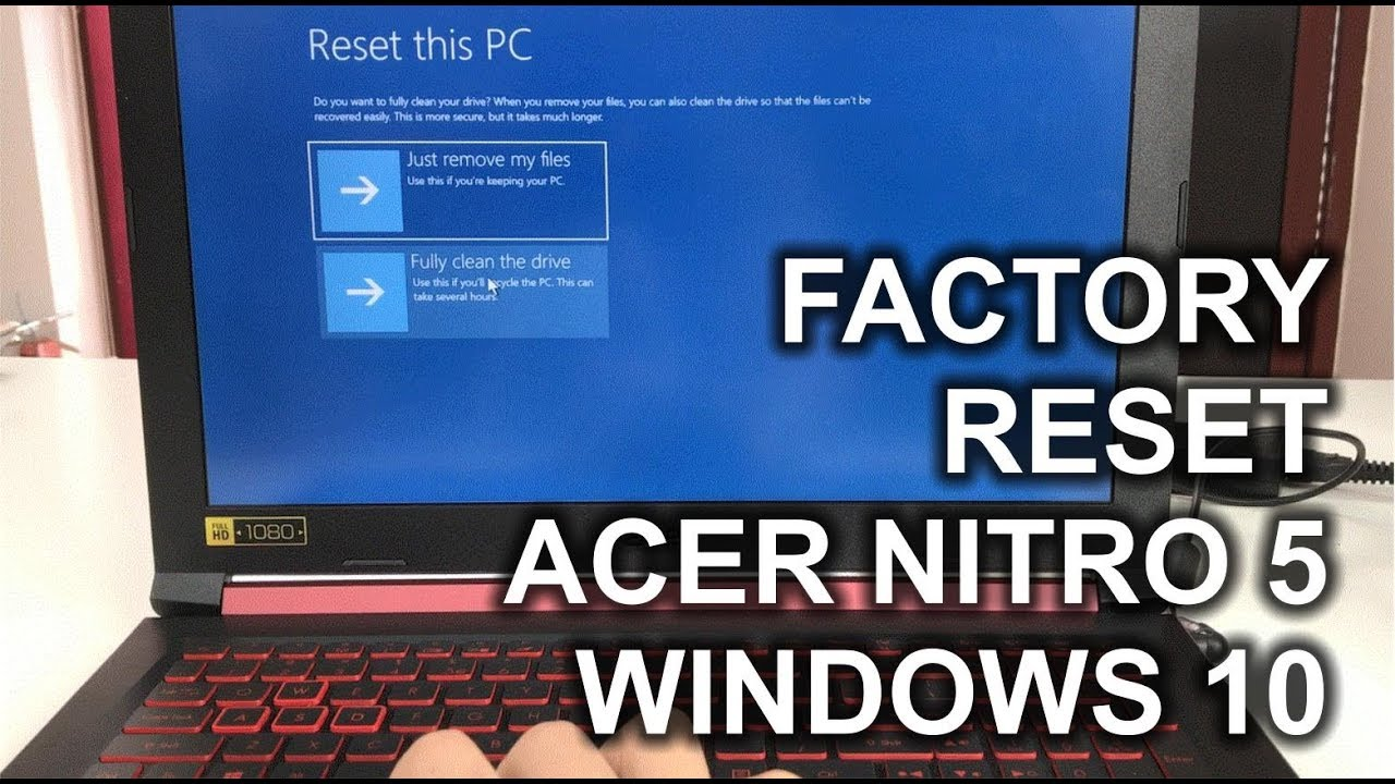 restore windows 7 to factory settings acer laptop