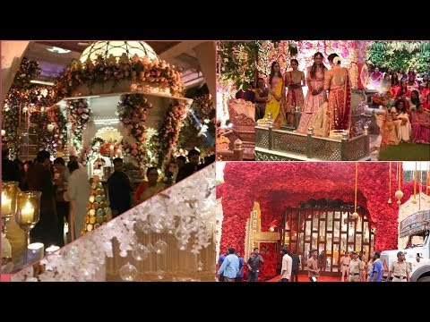 FIRT Visuals of Ambani House GRAND Decorations For Daughter Isha Ambani's WEDDING Ceremony Today