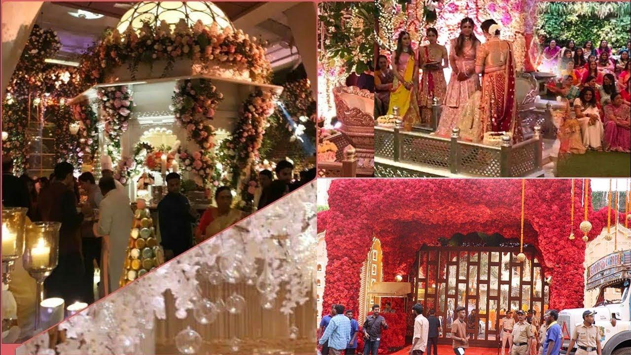 Firt visuals of ambani house grand decorations for daughter isha