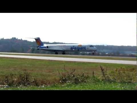 Allegiant Flight 916 Inaugural Landing AVL
