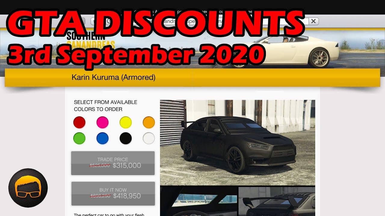 GTA Online Best Vehicle Discounts (3rd September 2020) - GTA 5 Weekly Car Sales Guide #52