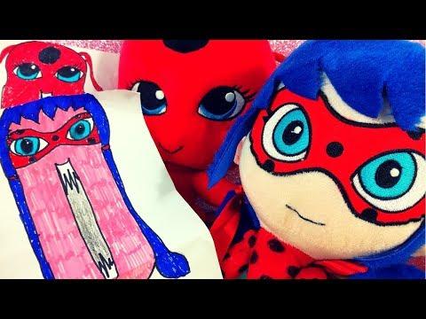 Tikki e Ladybug si disegnano e si colorano in versione spaventosa! [Video per bambini]
