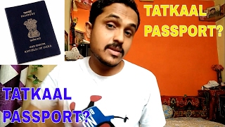 HOW TO APPLY FOR TATKAAL PASSPORT ONLINE?FULL INFORMATION!!(HINDI 2017)