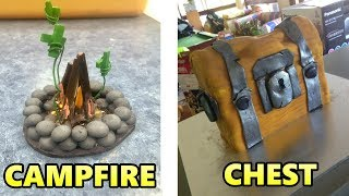 FORTNITE ITEMS IN REAL LIFE (Cozy Campfire, Shield Potions)