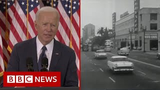 How Joe Biden's $2tn infrastructure plan ranks in US history - BBC News