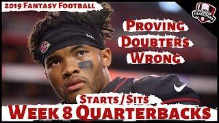 2019 Fantasy Football Advice - Week 8 Quarterbacks - Start or Sit? Every Match Up