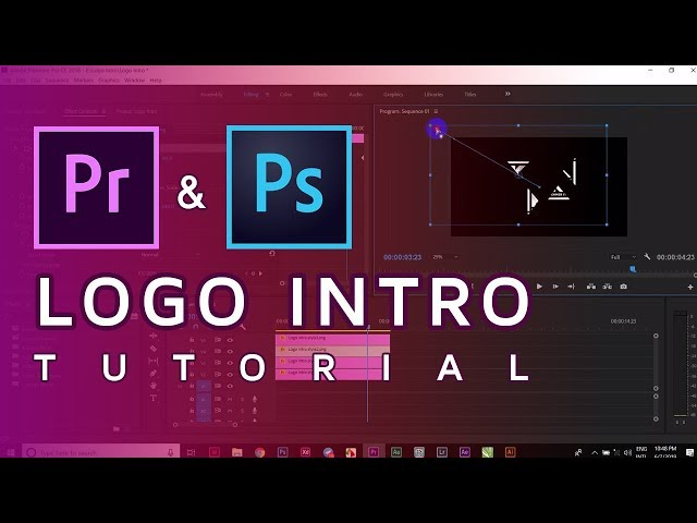 How to make logo intro in Premiere pro & Photoshop tutorial